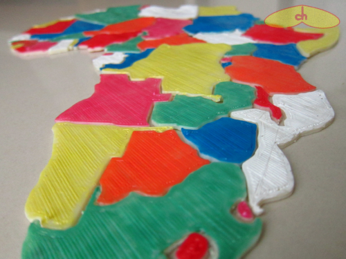 Africa_puzzle_3dprinted