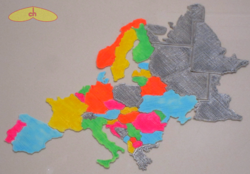 Europe_puzzle_3dprinted